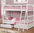 Wholesale Furniture Brokers: 45% Off Fraser III White Twin Over Twin Bunk Bed With Storage Drawers And Solid Wood