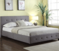 Wholesale Furniture Brokers: 43% Off Grace Grey Linen Tufted Queen Platform Bed By True Contemporary