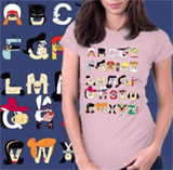 Shirt Battle: Alphabet Shirts From $16