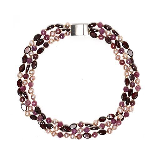 Sacred Jewels: Lavender Halo Gemstone Choker Just $175