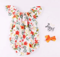 Patpat: 45% Off Lovely Floral Pattern Short-sleeve Bodysuit For Baby Girl