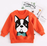 Patpat: 30% Off Cute Dog Print Long Sleeves Pullover For Baby