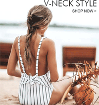 Cupshe: 20% Off V-Neck Swimwear