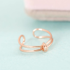 Name Necklace: 50% Off Valentine Knot Ring Copper
