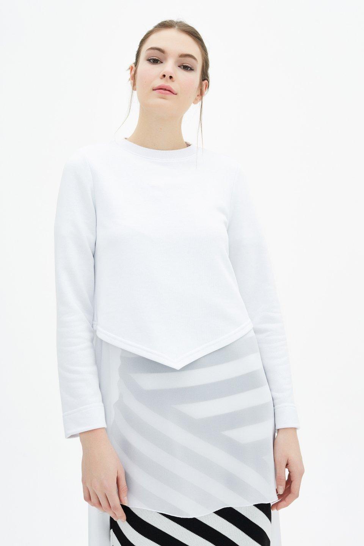 Toucheprive: $14 Off Chiffon Sweatshirt