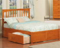 Wholesale Furniture Brokers: 37% Off Fraser Oak Mission Platform Bed Frame With Storage Drawers