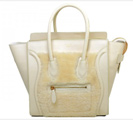 Topposhbags: Save 30% On Celine Luggage Small Tote In Calfskin Cream/Wool Cream