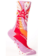 The Joy Of Socks: I'm A Girl Superpower Socks For $10.99