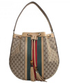 Topposhbags: Save 36% On Gucci Rania Drawstring Shoulder Bag Gg Canvas Beige