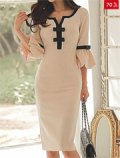 Fashion Mia: 70% Off Sweet Heart Plain Blend Bodycon Dress