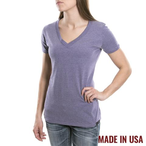 Grunt Style: 40% Off Women's V-Neck - Heather Purple