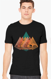 Customon: Nature And Animal Men's T-shirt For $23.04