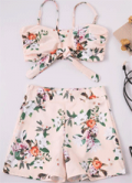 Shyfull: Euramerican Printed Pink Two-piece Shorts Set For $27.16