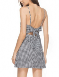 Linesbuys: Plaid Open Back Dress For $28.99