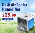 Zbest: Desk Air Cooler Humidifiner For $25.99