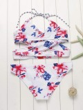 CooSummer: Floral Halter Wrap Bikini SetSale Price$13.26