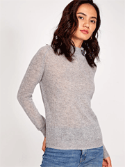 Socialeras: Simple High Neck Solid Yakwool Sweater For $59
