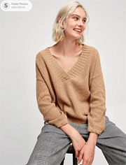 Socialeras: 100% Wool Simple Hollow-out V-neck Sweater For $45