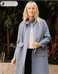 Socialeras: 100% Wool Solid Longline Coat With Pockets For $115