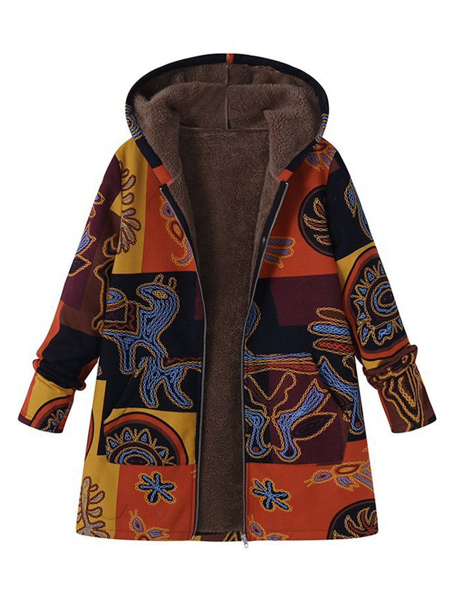 Rikkishop: 50% Off Vintage Cashmere Tribal Long Sleeve Coats