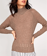 Socialeras: Yak Wool Ribbed Blend Turtleneck For $39