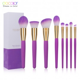 DOCOLOR: 8 Pieces Skin Affinity Makeup Brush Set  For $17.99