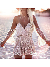 Trendysuper: 50% Off Two-Way Off Shoulder Sequins Playsuits