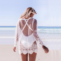 Maxinina: 50% Off Embroidered Lace Beach Blouse Bikini Tunic