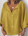 Annie Cloth: 40% Off Womens' Clothing Long Sleeve Linen Shirts Blouses