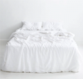 Bed Threads: White 100% Flax Linen Bedding Set From $250