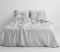 Bed Threads: Pinstripe 100% Flax Linen Bedding Set From $250