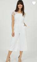 Suzy Shier: 50% Off Crochet Lace Jumpsuit