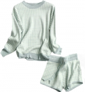 Goodnight Macaroon: Down To $59 CHECKED KNITTED SWEATER AND SHORTS SET