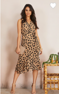 Suzy Shier: $28 Off Sleeveless Animal Print Ruffle Dress