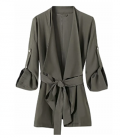 Goodnight Macaroon: Down To $69 Of 'CHERYL' WRAP WAIST TIE DRAPE JACKET