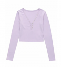 Goodnight Macaroon: Down To $49 Of  'SHARON' BUTTON V-NECK TIGHT FITTED TOP